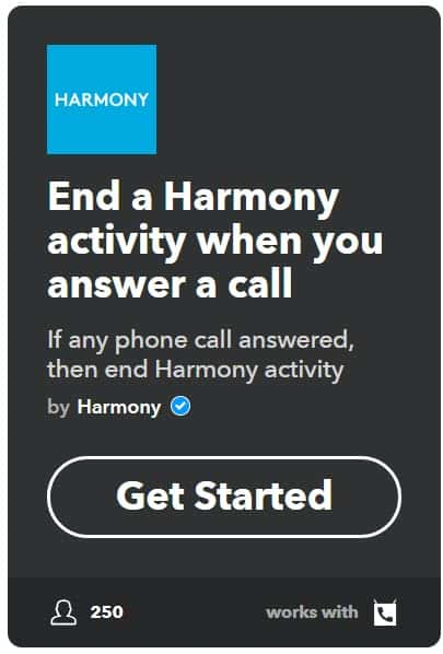 harmony and ifttt call